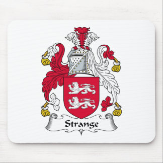 Strange Family Crest Mouse Pad