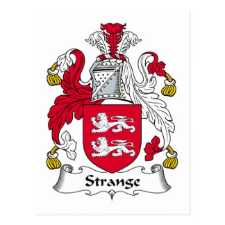 Strange Family Crest Postcard