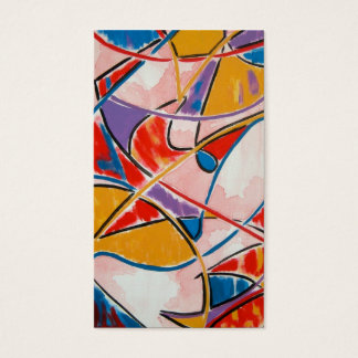 Strange Fish-Abstract Art Hand Painted Business Card