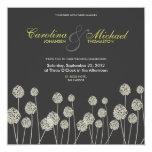 "Strange Flowers Modern Wedding Invite 5.25"" Square Invitation Card"