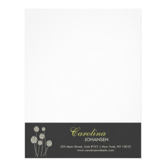 STRANGE FLOWERS TAN/GRAY Letterhead