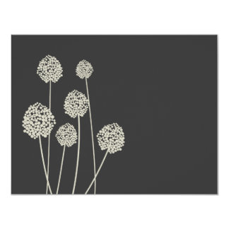 Strange Flowers Tan/Gray Personal Stationery/Notec Invitations