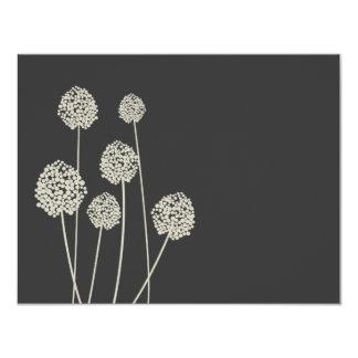 Strange Flowers Tan/Gray Personal Stationery/Notec Invitations