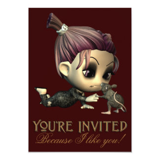 Strange Friends Halloween Party Invitation