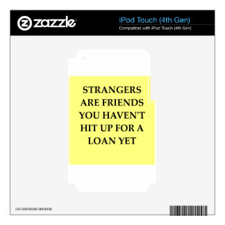 strange friends decal for iPod touch 4G
