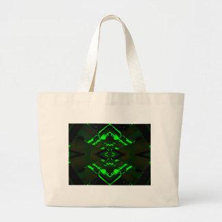 Strange Green Alien Design Tote Bag