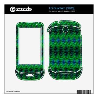 Strange green pattern skins for LG quantum