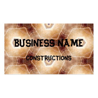 Strange hexagon shapes pattern business card