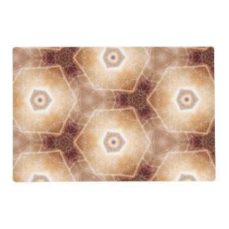 Strange hexagon shapes pattern placemat
