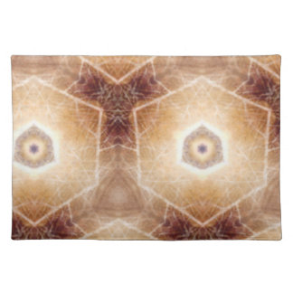 Strange hexagon shapes pattern cloth place mat