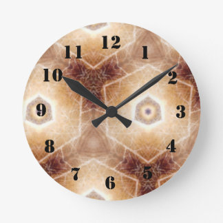 Strange hexagon shapes pattern round clock
