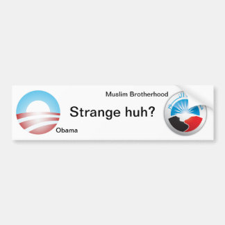 Strange huh? bumper sticker