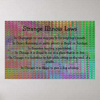 strange illinois laws poster