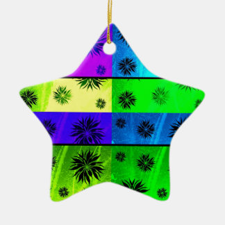 strange island Double-Sided star ceramic christmas ornament