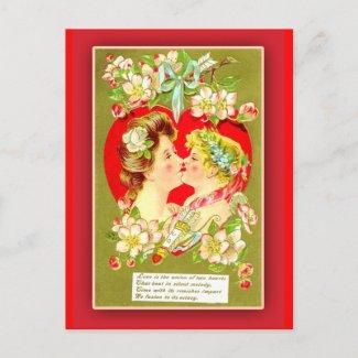Strange Kisses Victorian Valentine Cards Postcard