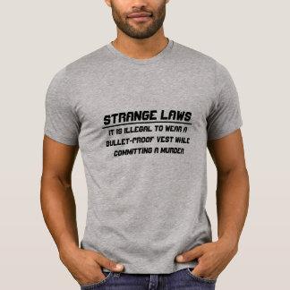 Strange laws bullet-proof vest tee shirt