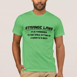 Strange laws forbidding fishing giraffe neck T-Shirt