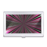 Strange light on abstract pattern business card cases