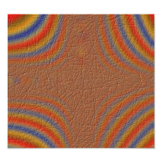 Strange line pattern photo print