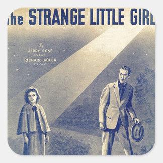 Strange Little Girl Square Sticker