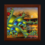 """Strange Magic Keepsake Box<br><div class=""""desc"""">Very pretty,  colorful,  and unique fractal design. Thanks for looking,  and Happy Holidays!</div>"""