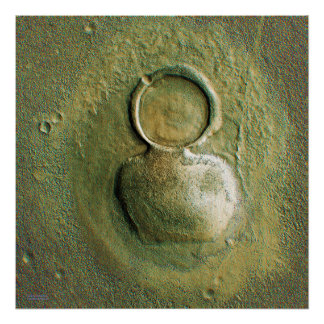 Strange Martian Craters Print