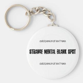 Strange Mental Blank Spot aa Keychain