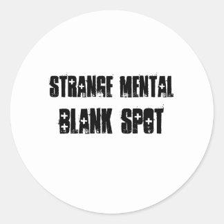 Strange Mental Blank Spot Aa  Sticker