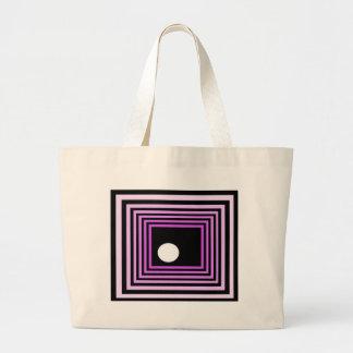Strange Modern Art Purple Urban Optical Illusion Tote Bags