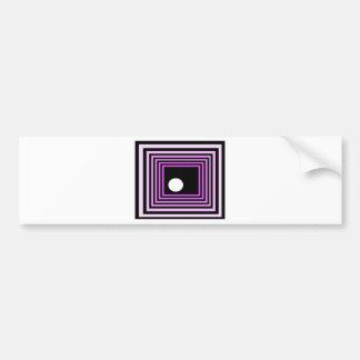 Strange Modern Art Purple Urban Optical Illusion Bumper Sticker