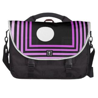 Strange Modern Art Purple Urban Optical Illusion Laptop Messenger Bag