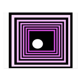 Strange Modern Art Purple Urban Optical Illusion Postcards