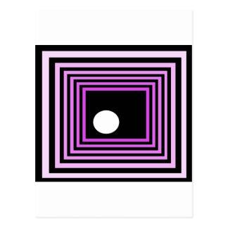 Strange Modern Art Purple Urban Optical Illusion Post Cards