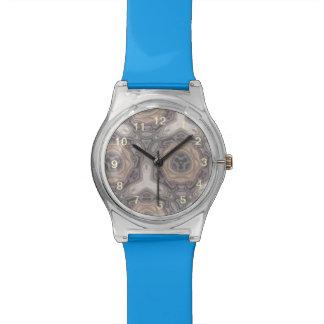 Strange modern pattern wristwatch