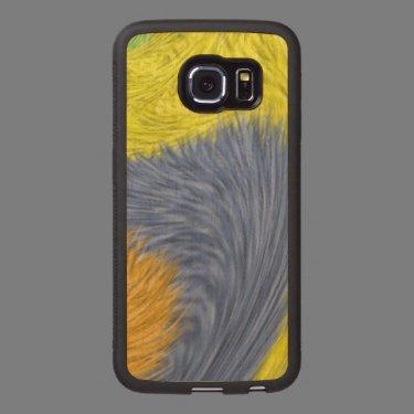 Strange modern pattern wood phone case