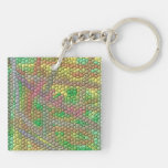 Strange mosaic pattern acrylic key chain