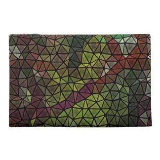 Strange mosaic pattern travel accessory bags