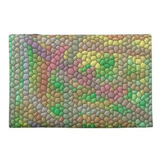 Strange mosaic pattern travel accessories bags