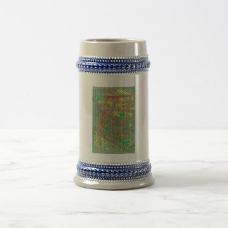 Strange mosaic pattern 18 oz beer stein