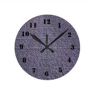 Strange mosaic pattern round clock