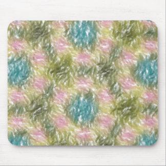 strange multicolored pattern mouse pad