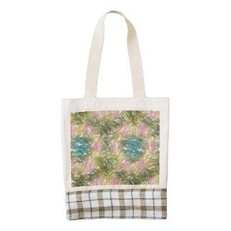 strange multicolored pattern zazzle HEART tote bag