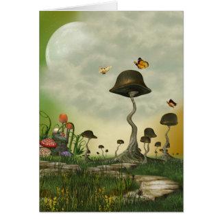 Strange Mushrooms Greeting Card