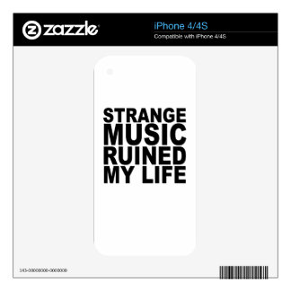 STRANGE MUSIC T-Shirts png Skin For The iPhone 4S