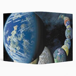 Strange New Worlds Alien Planet Montage 3 Ring Binder