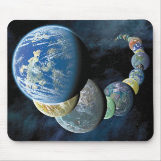 Strange New Worlds Alien Planet Montage Mouse Pad