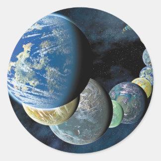 Strange New Worlds Classic Round Sticker