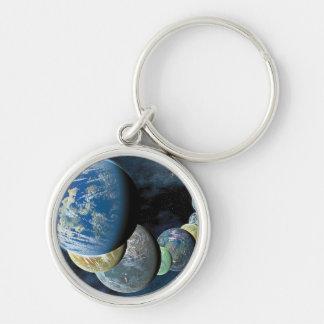 Strange New Worlds Silver-Colored Round Keychain