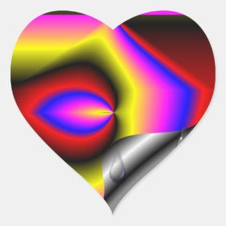 Strange nice modern pattern heart sticker