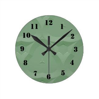 Strange pattern round clock